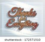 thanks for everything modern... | Shutterstock .eps vector #172571510