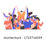 multicultural group of people... | Shutterstock .eps vector #1725716059