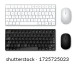 keyboard and mouse vector set.... | Shutterstock .eps vector #1725725023
