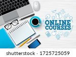 online courses e learning... | Shutterstock .eps vector #1725725059