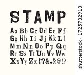 vector latin stamp alphabet.... | Shutterstock .eps vector #1725732913
