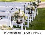 Wedding Ceremony Aisle With...