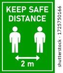 keep safe distance social...   Shutterstock .eps vector #1725750166