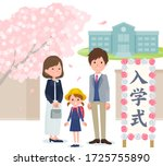 this is a scene of attending an ... | Shutterstock .eps vector #1725755890