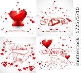 vector beautiful hearts... | Shutterstock .eps vector #172575710