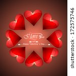 valentines day greeting card... | Shutterstock .eps vector #172575746