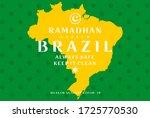 ramadan kareem brazil always... | Shutterstock .eps vector #1725770530