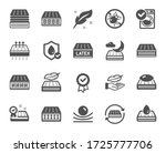 mattress icons. breathable ... | Shutterstock .eps vector #1725777706