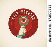 vector badge in flat style  ... | Shutterstock .eps vector #172577813