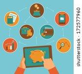 online finance control app  ... | Shutterstock .eps vector #172577960