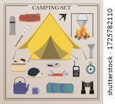 a set of flat icons for camping.... | Shutterstock .eps vector #1725782110