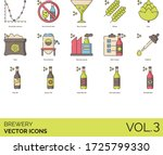 brewery icons including alcohol ... | Shutterstock .eps vector #1725799330
