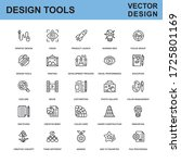 thin line design tools  art and ... | Shutterstock .eps vector #1725801169