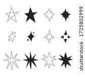 set of black hand drawn doodle... | Shutterstock .eps vector #1725802999