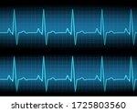 heart rate graph. heart beat....   Shutterstock .eps vector #1725803560
