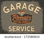 car service vintage signboard   ...