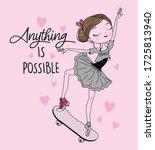 ballerina. ballet dancer.... | Shutterstock .eps vector #1725813940