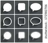 speech bubble icons. think... | Shutterstock . vector #172582706