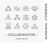 vector teamwork and... | Shutterstock .eps vector #1725828106