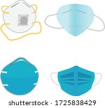 face mask medical protection...   Shutterstock .eps vector #1725838429