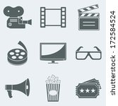 vector illustration of icons on ... | Shutterstock .eps vector #172584524