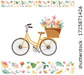 Vector Bicycle With Flowers On...
