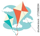 kites and clouds | Shutterstock .eps vector #172588334