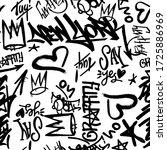 vector graffity tags seamless... | Shutterstock .eps vector #1725886969