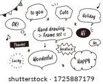 handwritten style speech bubble ... | Shutterstock .eps vector #1725887179
