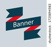 retro ribbon banner vector... | Shutterstock .eps vector #1725894583