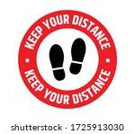 social distancing  maintain... | Shutterstock .eps vector #1725913030