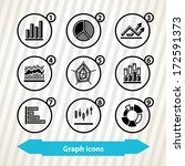 icons of different graphs... | Shutterstock .eps vector #172591373