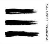 art black ink abstract brush... | Shutterstock .eps vector #1725917449