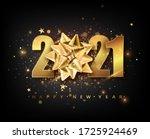2021 happy new year vector... | Shutterstock .eps vector #1725924469
