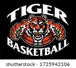 tiger basketball team design... | Shutterstock .eps vector #1725942106
