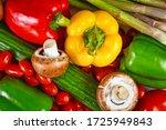 Various Fresh Raw Vegetables...