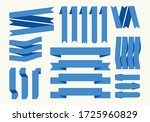 collection of blue ribbon signs.... | Shutterstock . vector #1725960829