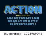 pixel vector alphabet design ... | Shutterstock .eps vector #1725969046