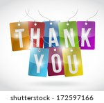 thank you color tags... | Shutterstock . vector #172597166