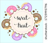 sweet donuts with bright cream  ... | Shutterstock .eps vector #1725993796