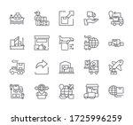 set of export related vector...   Shutterstock .eps vector #1725996259