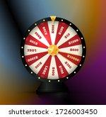 gambling game element  spinning ... | Shutterstock .eps vector #1726003450