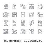 set of fuel related vector line ...   Shutterstock .eps vector #1726005250