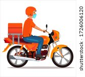 delivery boy with wearing...   Shutterstock .eps vector #1726006120