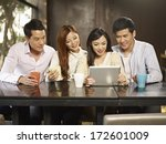 young people using tablet... | Shutterstock . vector #172601009