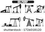 oil pump icon set. set of the... | Shutterstock .eps vector #1726018120