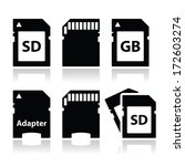 Sd  Memory Card  Adapter Icons...