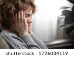 health and pain. stressed... | Shutterstock . vector #1726034119