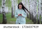 beautiful girl with a...   Shutterstock . vector #1726037929