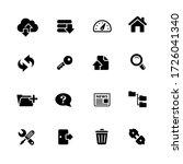 ftp   hosting icons    black... | Shutterstock .eps vector #1726041340